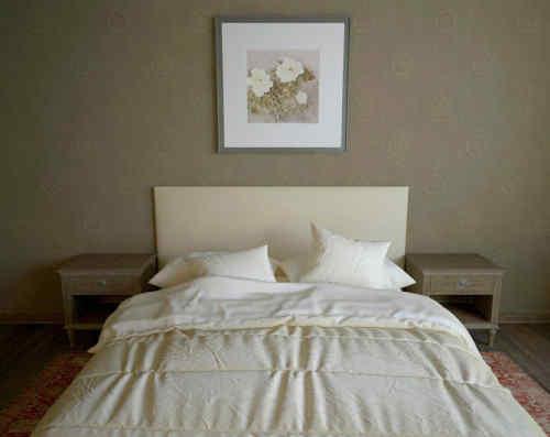 Chambre cosy avec couette duveteuse et gonflante