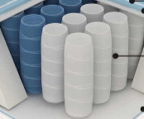 ressorts séparés et enveloppés individuellement dans des sacs en tissu