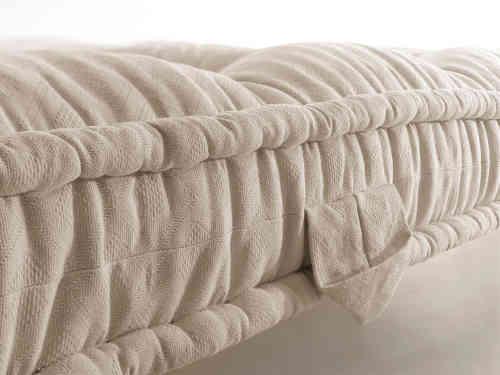Coutil capitonné laine et coton