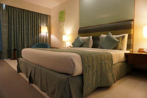 Chambre à coucher luxueuse et confortable