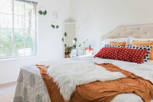 Chambre à couche propre avec matelas et surmatelas 2 personnes en bambou